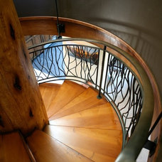 Eclectic Staircase by A D Construction - Building & Design