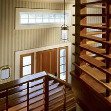 Farmhouse Staircase by LDa Architecture & Interiors