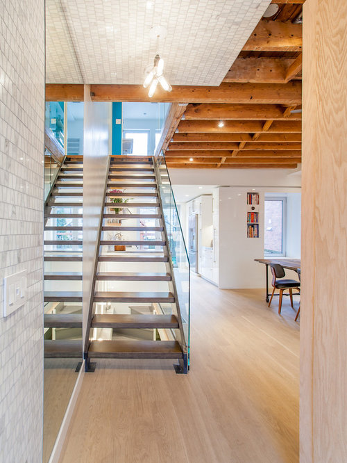 Foyer Ceiling Joist : Open rafter ceiling houzz