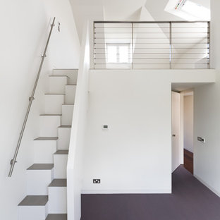 Small contemporary straight staircase in London.