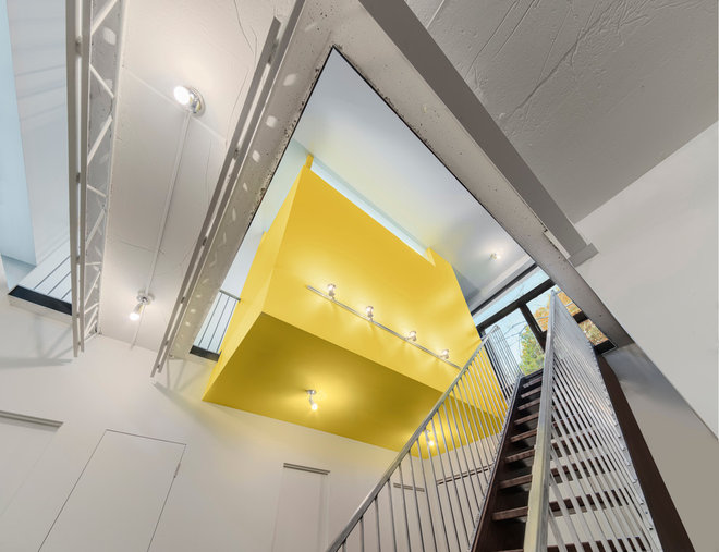 contemporary staircase by Kariouk Associates