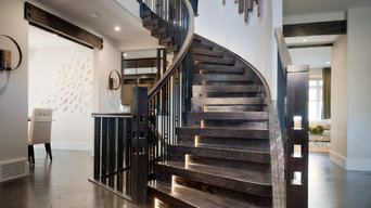 Stacked Blocks Style Curved Stair