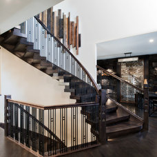 Contemporary Staircase by Specialized Stair and Rail Ltd.