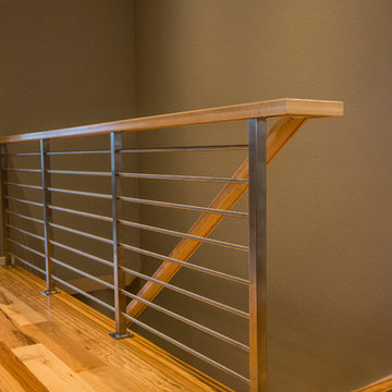 Stainess Steel and Maple Wood Railing