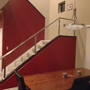 Cette image montre un escalier design.