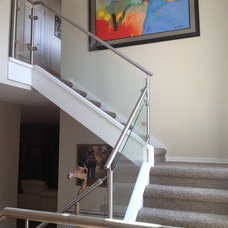 Contemporary Staircase by Neufeld & Son Welding