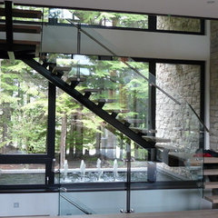 contemporary staircase by Gaulhofer Windows