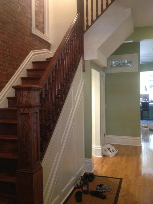 Stair Railing Knee Wall Home Design Ideas Pictures