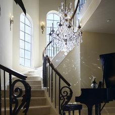 Mediterranean Staircase by Talla Skogmo Interior Design