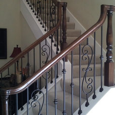 Traditional Staircase by Stair Remodel Houston Stair Parts HSP