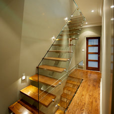 Contemporary Staircase by Yorkville Design Centre