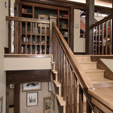 Traditional Staircase by Aneka Interiors Inc.