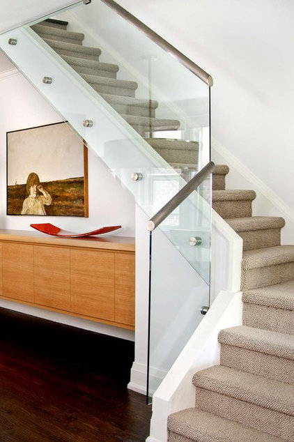 Contemporary Staircase by Jodie Rosen Design