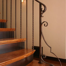Mediterranean Staircase by Custom Spaces Design