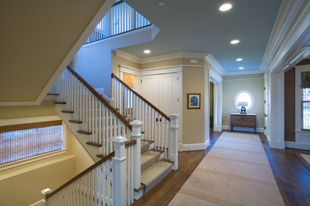 Traditional Staircase by Sroka Design, Inc.