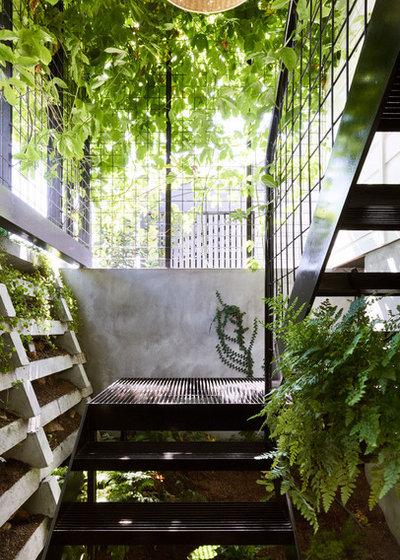 Modern Staircase by JOHN ELLWAY. ARCHITECT