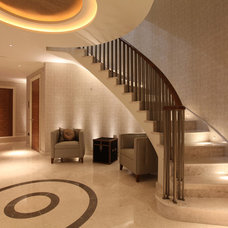 Contemporary Staircase by John Cullen Lighting