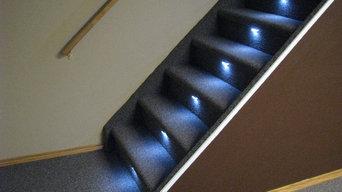 Stair Lighting on Various Stair Styles