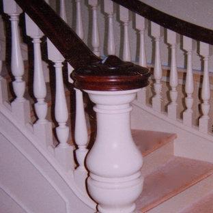 Идея дизайна: лестница в стиле неоклассика (современная классика)