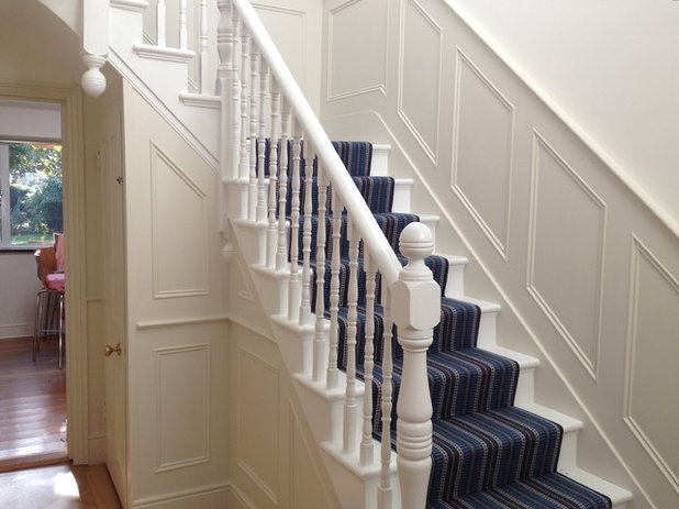 Traditional Staircase by The Wall Panelling Company