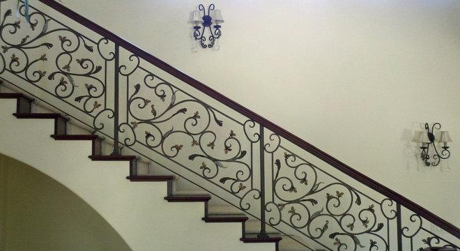 Mediterranean Staircase by Mark R. Eggen Construction, Inc.