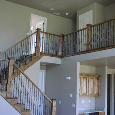 Contemporary Staircase by Apex Carpentry