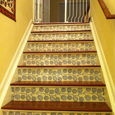 Modern Staircase stair risers with decals