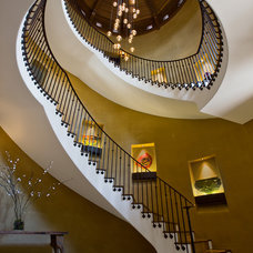 Mediterranean Staircase by RWA Architects