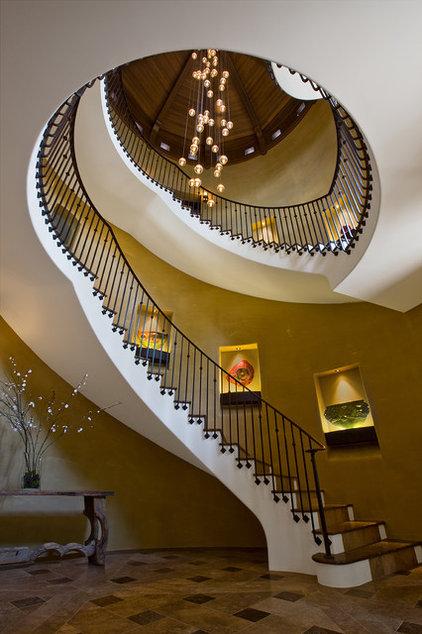 Mediterranean Staircase by RWA Architects