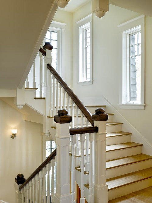Brown And White Stairs Houzz