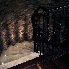 traditional staircase by 186 Lighting Design Group - Gregg Mackell