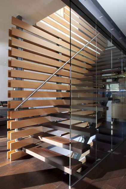 Contemporary Staircase by Kevin Vallely Design
