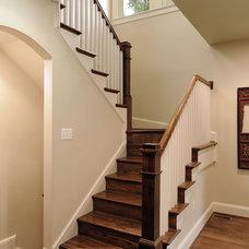 Contemporary Staircase by AHMANN LLC
