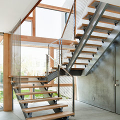 modern staircase by Walker Workshop