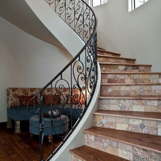 Mediterranean Staircase by Rick O'Donnell Architect
