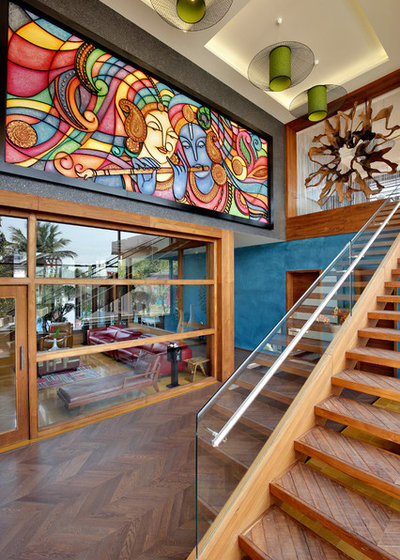 Eclectic Staircase by Ace Associates
