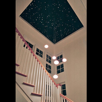 Staircase and night sky