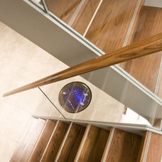 Contemporary Staircase by Rhoco