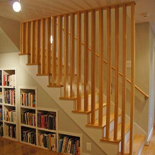 Staircase bookshelves