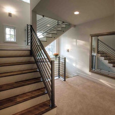 Contemporary Staircase by Butter Lutz Interiors, LLC