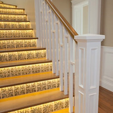 Eclectic Staircase by Cabochon Surfaces & Fixtures