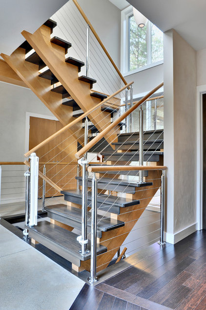 Contemporary Staircase by Echelon Custom Homes