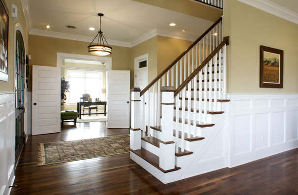 Traditional Staircase by Echelon Custom Homes