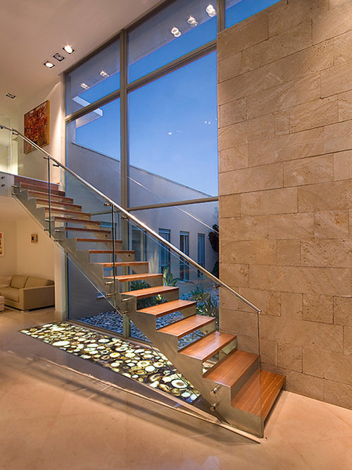 Example Of A Minimalist Floating Staircase Design In Other