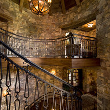 Rustic Staircase by Gabberts Design Studio