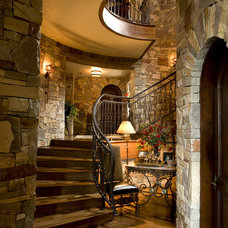 Traditional Staircase by Gabberts Design Studio