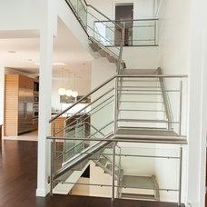 Modern Staircase by Habitat Studio