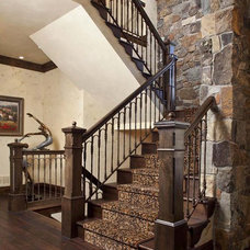 traditional staircase by Hendel Homes
