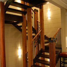 Eclectic Staircase by Hibler Design Studio