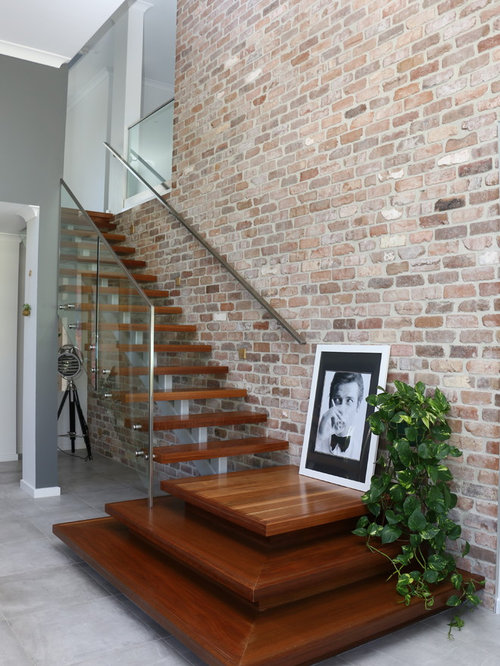 Photo Of A Contemporary Wood Straight Staircase In Sydney.